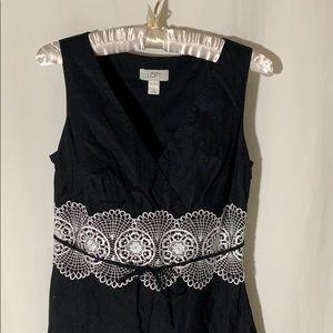 Ann Taylor Loft cotton cocktail length dress